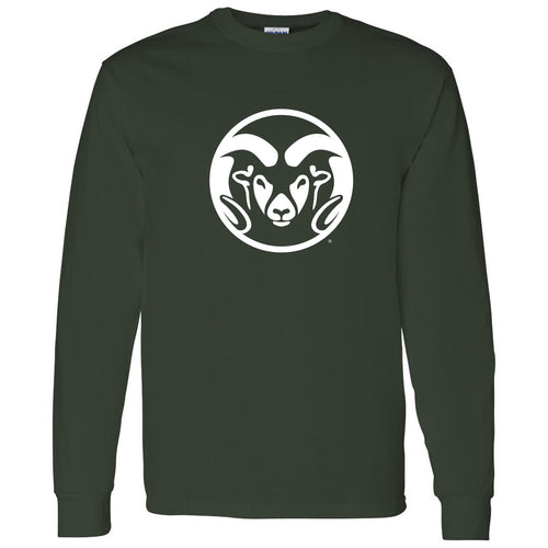 Colorado State University Ram Head Logo Long Sleeve T Shirt - Forest