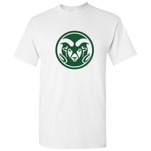 Colorado State University Ram Head Logo Short Sleeve T Shirt - White