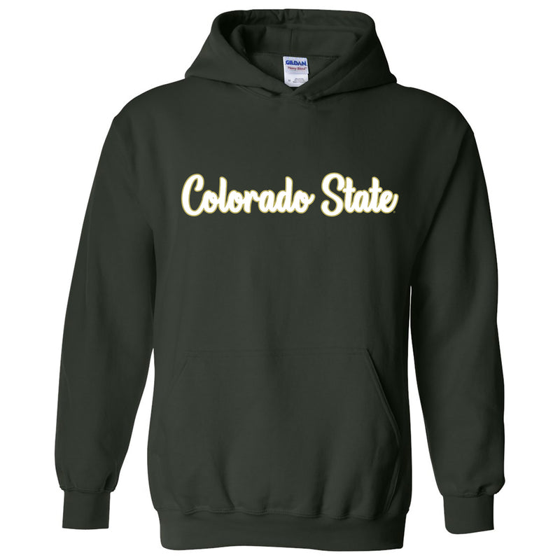 Colorado State Rams Basic Script Heavy Blend Hoodie - Forest