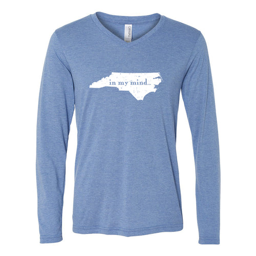 Carolina In My Mind Long Sleeve - Blue Triblend