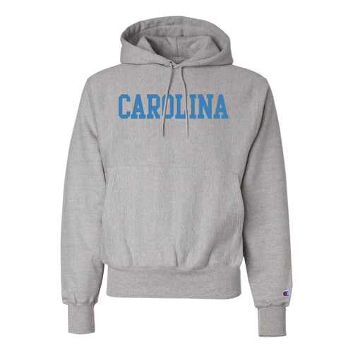 University of North Carolina Screen Printed Reverse Weave Hoodie - Oxford