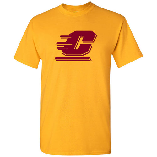 Central Michigan University Chippewas Action C Short Sleeve T Shirt - Gold