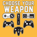 Choose Your Weapon Gamer Gaming Console Adult T-Shirt Basic Cotton - Gold