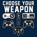 Choose Your Weapon Gamer Gaming Console Adult T-Shirt Basic Cotton - Navy