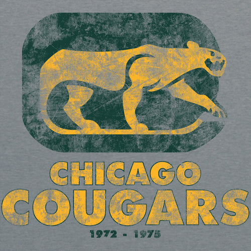 Chicago Cougars American Apparel Short Sleeve T Shirt - Athletic Grey