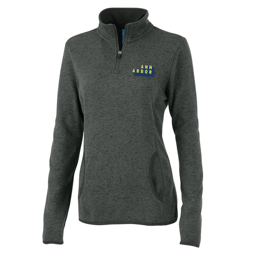 DA2 Charles River Ladies Fleece Pullover - Charcoal Heather - $45
