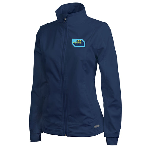DA2 Ladies Soft Shell Jacket- Navy - $60