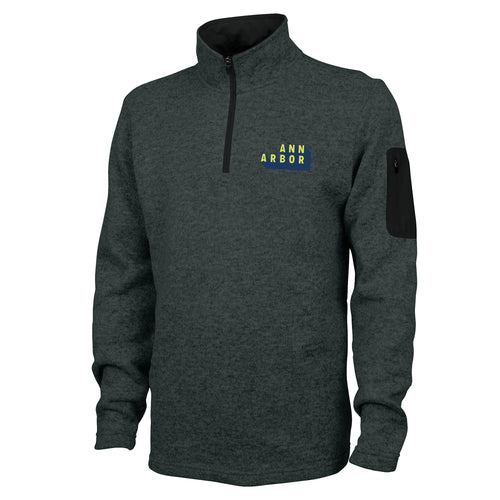 DA2 Charles River Mens Fleece Pullover - Charcoal Heather - $45