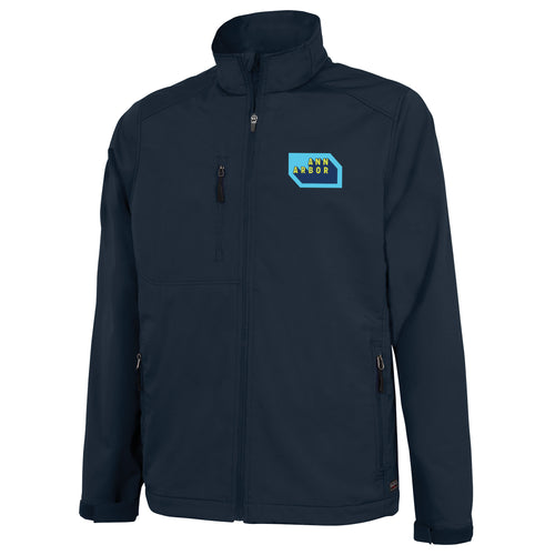 DA2 Mens Soft Shell Jacket- Navy  $60.00
