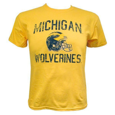 Michigan Faded Helmet Yth - Maize