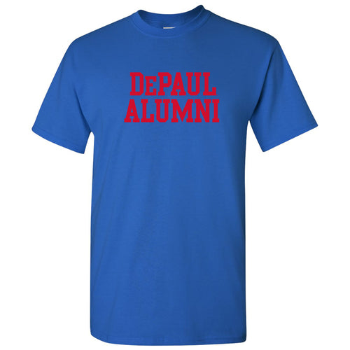 DePaul University Blue Demons Alumni Basic Block Short Sleeve T Shirt - Royal