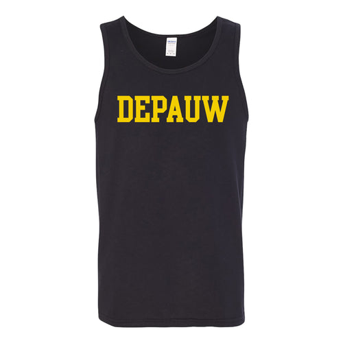 DePauw Basic Block Tank Top - Black