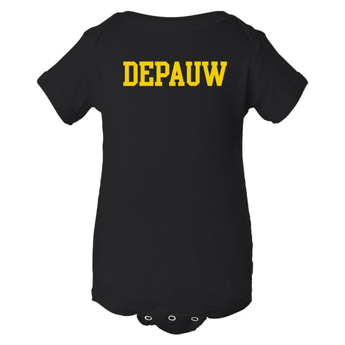 DePauw University Tigers Basic Block Creeper - Black
