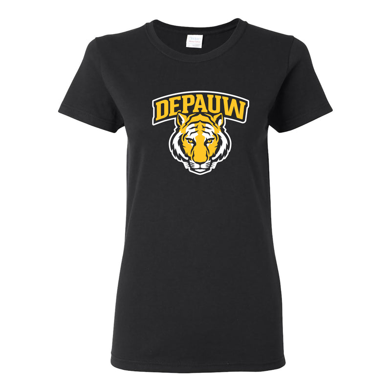 Depauw Arch Logo Womens T Shirt - Black