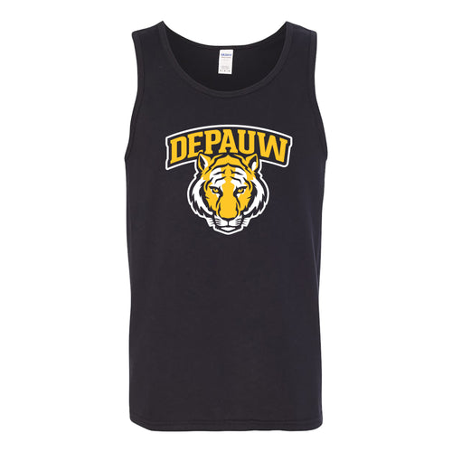 DePauw University Tigers Arch Logo Tank Top - Black