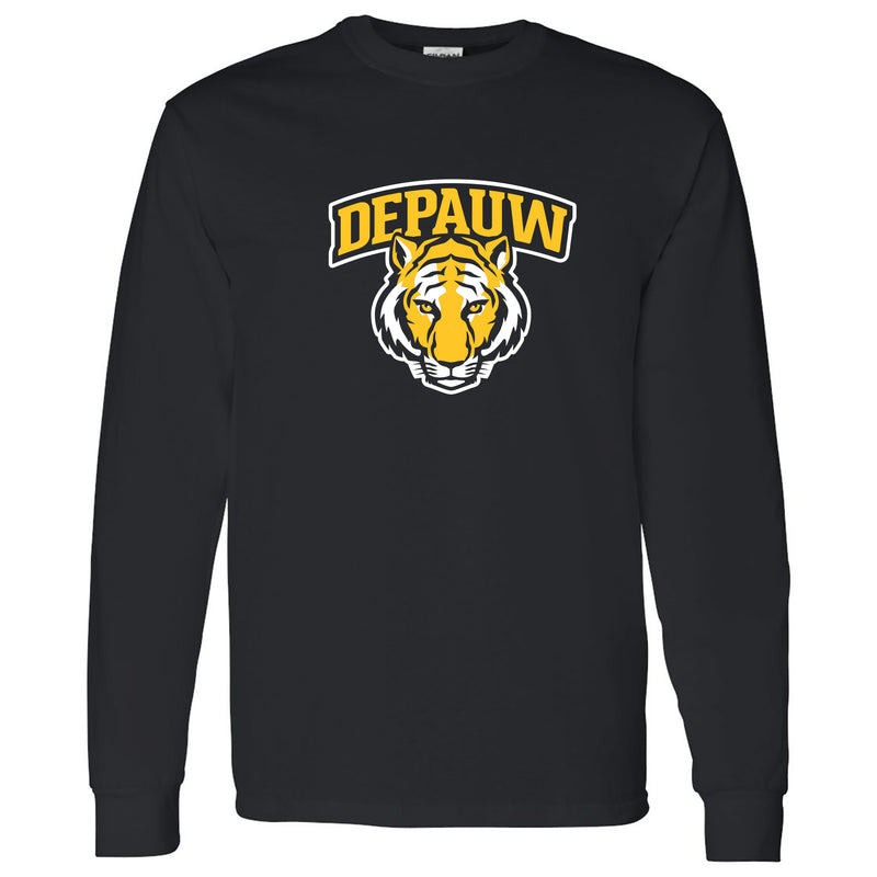 Depauw Arch Logo Long Sleeve - Black
