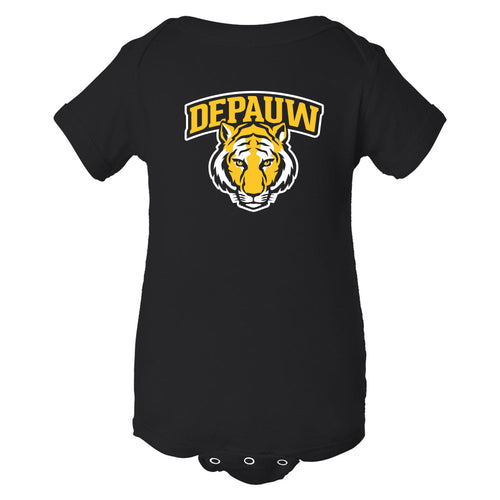 DePauw University Tigers Arch Logo Creeper - Black