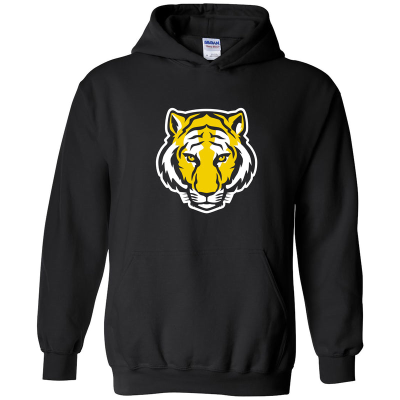 DePauw University Tigers Primary Logo Heavy Blend Hoodie - Black