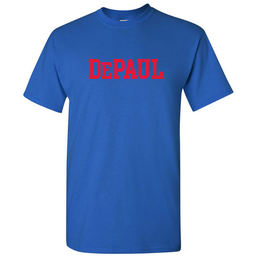 DePaul University Blue Demons Basic Block Short Sleeve T Shirt - Royal