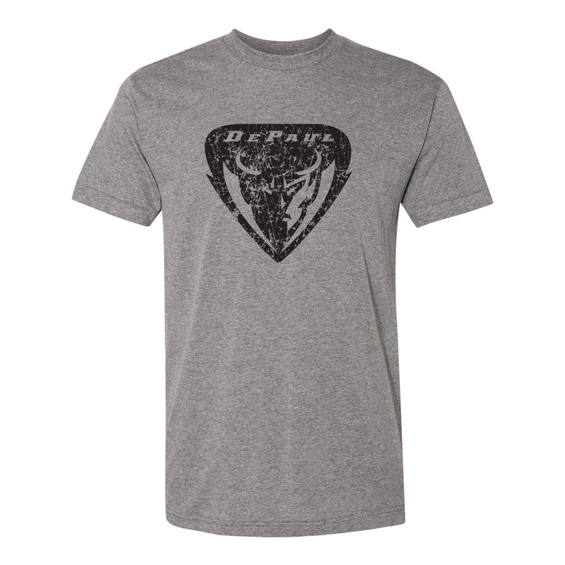 DePaul University Distressed Shield - Athletic Grey