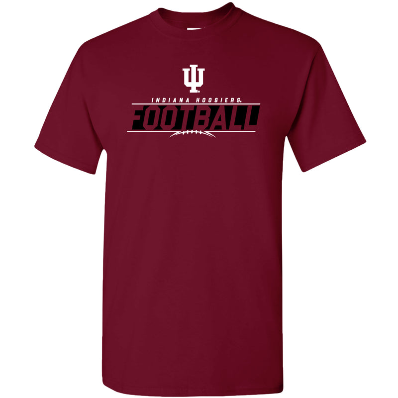 Indiana University Hoosiers Football Charge Short Sleeve T-Shirt - Cardinal