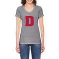 University of Detroit Mercy Titans Block D American Apparel Ladies Short Sleeve T Shirt - Athletic Grey