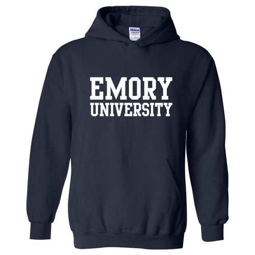 Emory University Eagles Basic Block Heavy Blend Hoodie - Navy