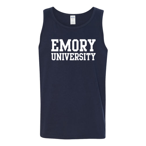 Emory Basic Block Tank Top - Navy
