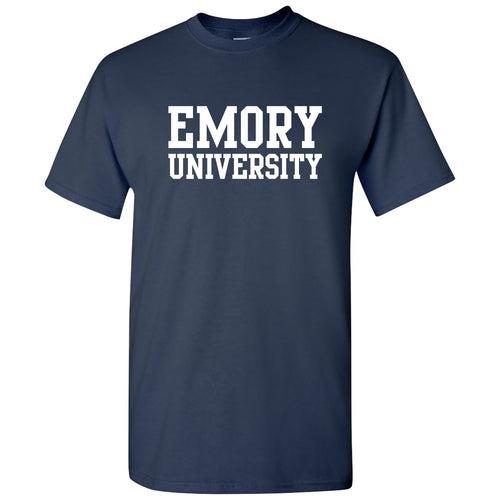 Emory University Eagles Basic Block Short Sleeve T Shirt - Navy