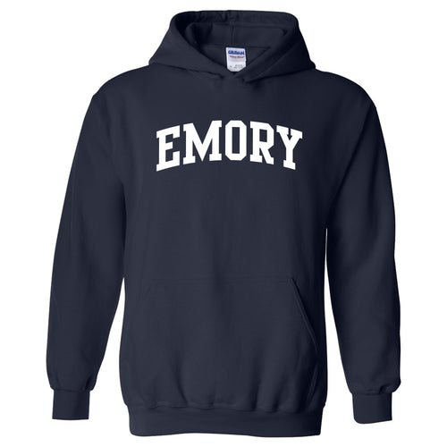 Emory University Eagles Arch Logo Heavy Blend Hoodie - Navy