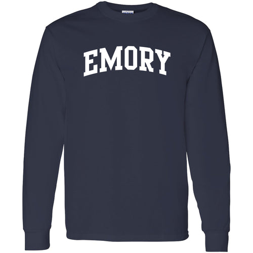 Emory University Eagles Arch Logo Long Sleeve T-Shirt - Navy