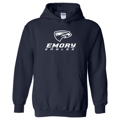 Emory University Eagles Primary Logo Heavy Blend Hoodie - Navy