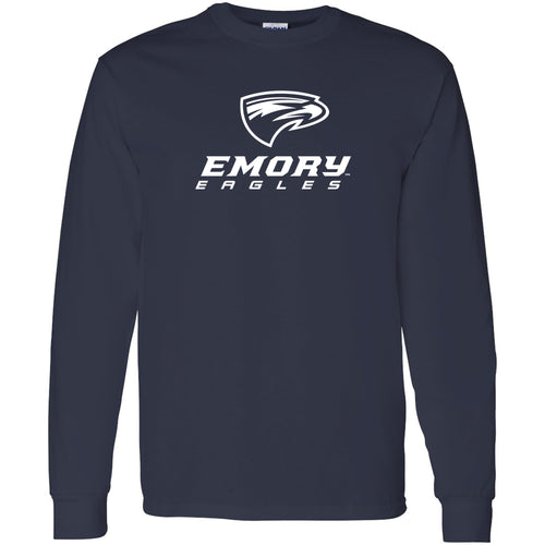 Emory University Eagles Primary Logo Long Sleeve T-Shirt - Navy