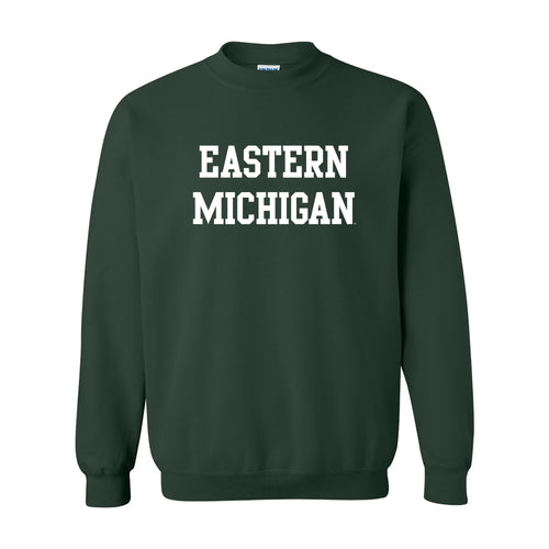 Eastern Michigan University Eagles Basic Block Crewneck - Forest