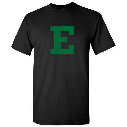 Eastern Michigan University Eagles Block E Short Sleeve T Shirt - Black