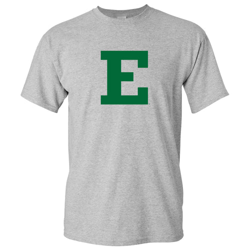 Eastern Michigan University Eagles Block E Short Sleeve T Shirt - Sport Grey