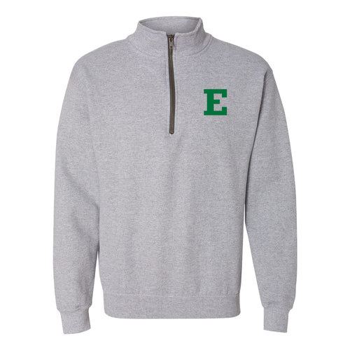 Eastern Michigan University Eagles Primary Logo Left Chest Quarter Zip - Sport Grey