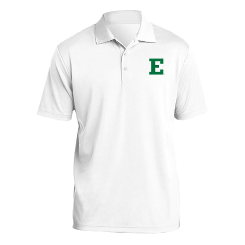 Eastern Michigan University Eagles Primary Logo Left Chest Polo - White
