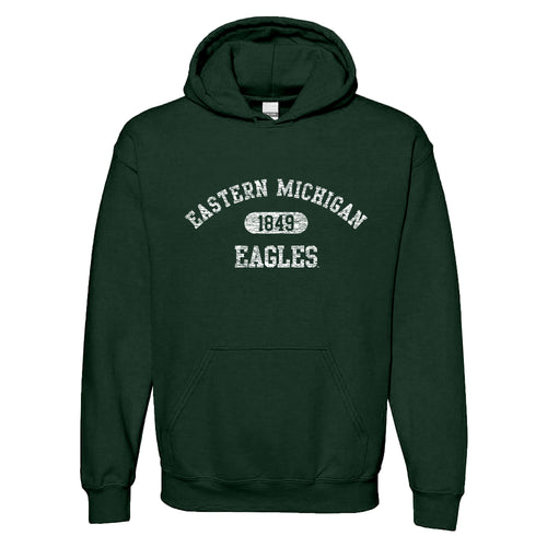 Eastern Michigan University Eagles Athletic Arch Heavy Blend Hoodie - Forest