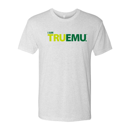 Eastern Michigan University Eagles I Am Tru EMU Next Level Short Sleeve T Shirt - Heather White