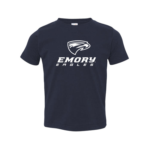 Emory University Eagles Primary Logo Toddler Short Sleeve T Shirt - Navy