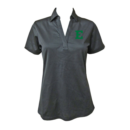 Eastern Michigan Primary Mark Ladies Polo - Black