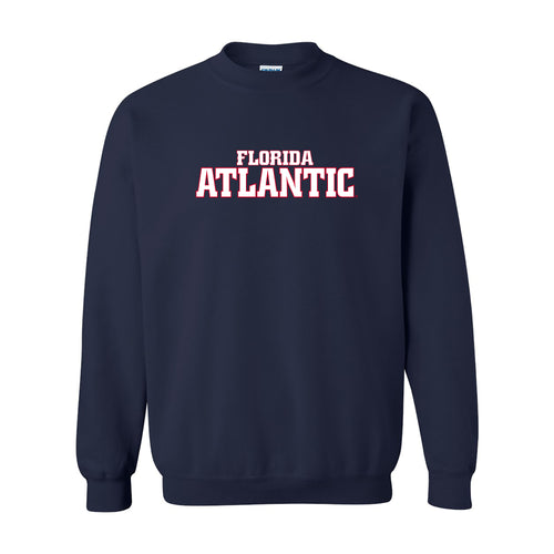 Florida Atlantic University Owls Basic Block Crewneck Sweatshirt - Navy