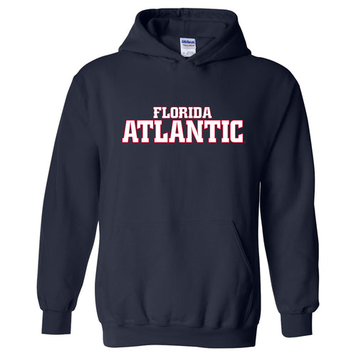 Florida Atlantic University Owls Basic Block Heavy Blend Hoodie - Navy