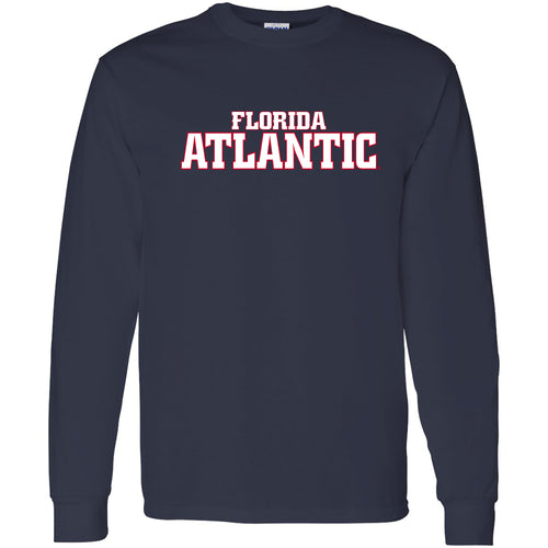 Florida Atlantic University Owls Basic Block Long Sleeve T-Shirt - Navy