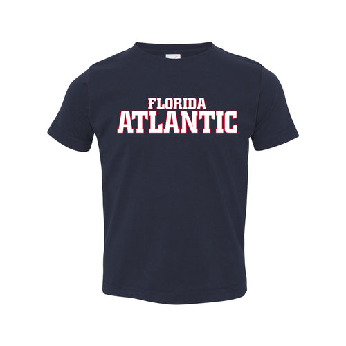 Florida Atlantic University Owls Basic Block Toddler Short Sleeve T Shirt - Navy