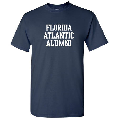 Florida Atlantic University Owls Alumni Block Short Sleeve T Shirt - Navy