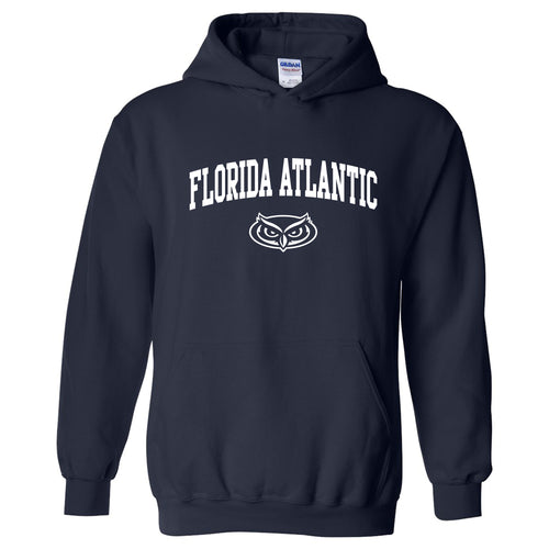 Florida Atlantic University Owls Arch Logo Heavy Blend Hoodie - Navy
