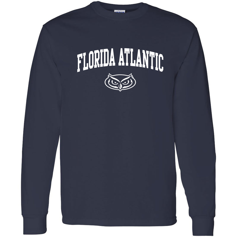 Florida Atlantic Arch Logo Long Sleeve - Navy