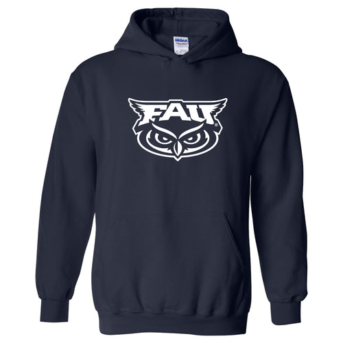 Florida Atlantic University Owls Primary Logo Heavy Blend Hoodie - Navy